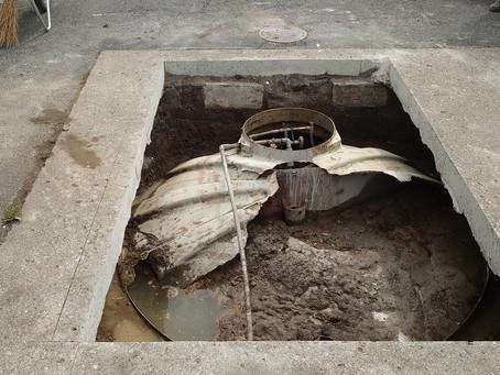 青森県八戸市で浄化槽の修理を行いました