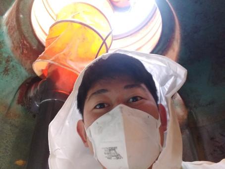 青森県平内町で浄化槽修理を行いました