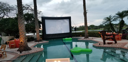 Outdoor cinema golf/tennis event