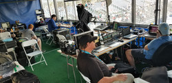 Tennis broadcasting booth