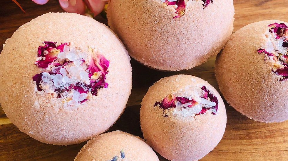 Red Clay & Magnesium on Jojoba Bath Bombs