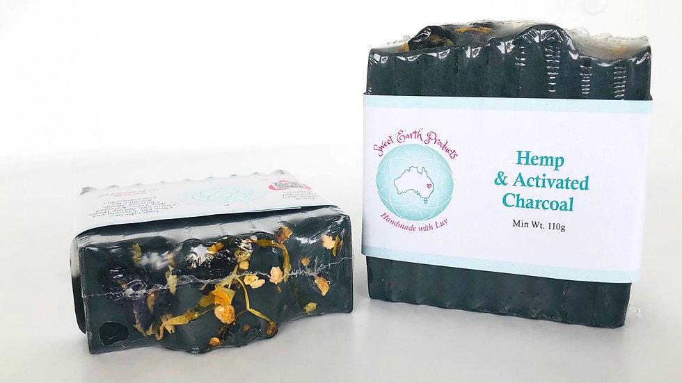 Hemp & Activated Charcoal Artisan Soap