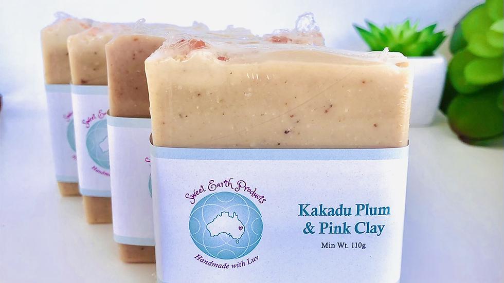 Kakadu Plum & Pink Clay on Aloe Artisan Soap