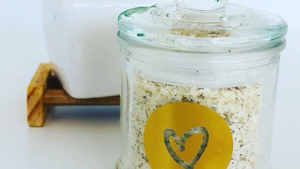 Divine Goddess Bath Milk - Bath Tub Glass Jar