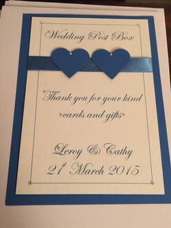 Wedding Post Box Label