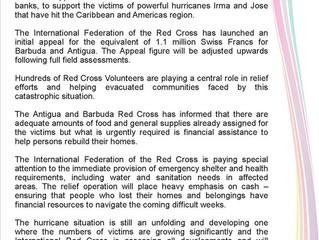 Press Release - Hurricane Irma & Jose