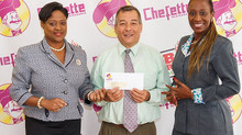 CHEFETTE GIVES GENEROUSLY TO THE BARBADOS RED CROSS SOCIETY