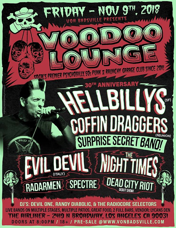 Coffin Draggers - Hellbillys Nov. 9 2018