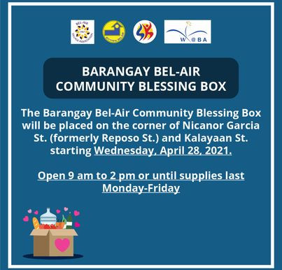 BARANGAY BEL-AIR COMMUNITY BLESSING BOX