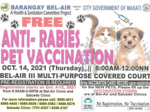 FREE ANTI-RABIES PET VACCINATION