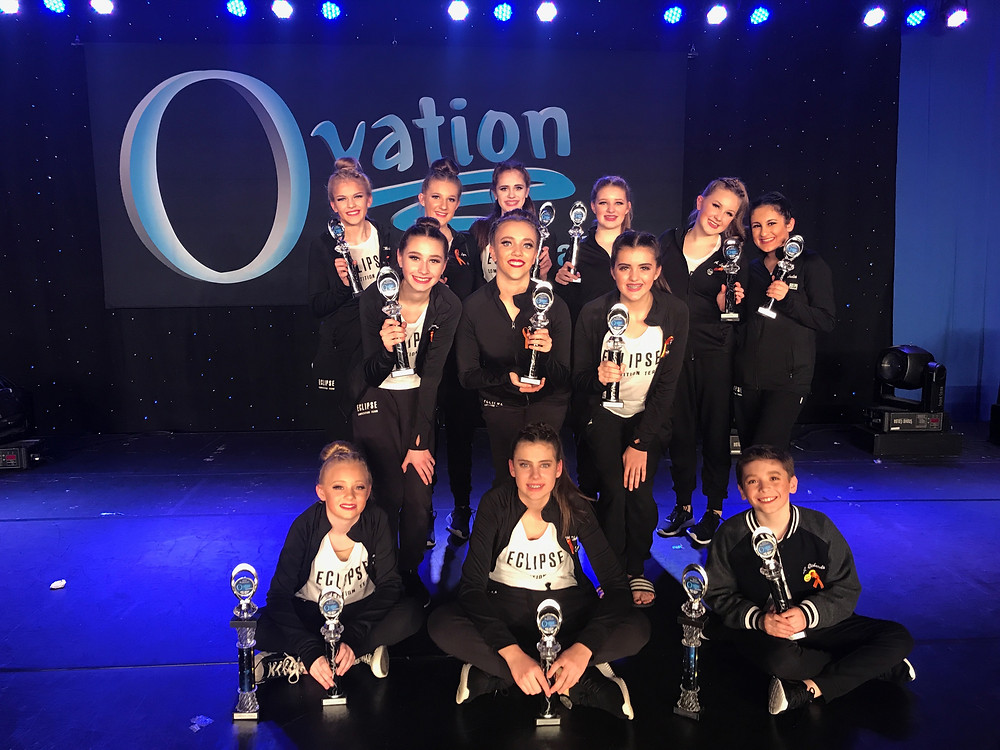 Eclipse Competition Team competed at Ovation Dance Challenge and took home 4 High Golds and 2 Golds at their first competition. The dancers also received 3 People's Choice Awards.