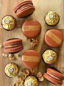 Ferrero Rocher Style Macarons