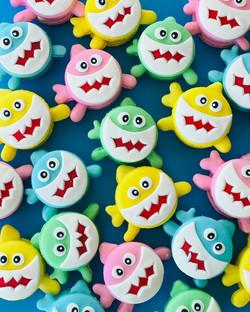 Baby Shark Macarons