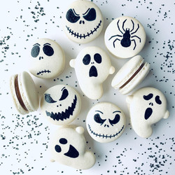 Scary Face Macarons