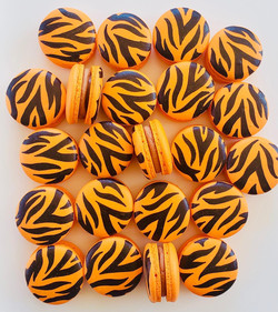 Tiger Print Macarons