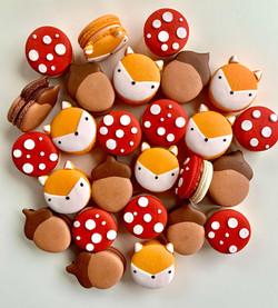 Woodland Themed Macarons