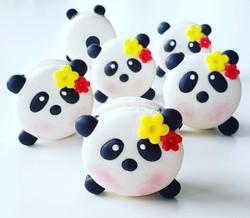 Cute Panda Macarons