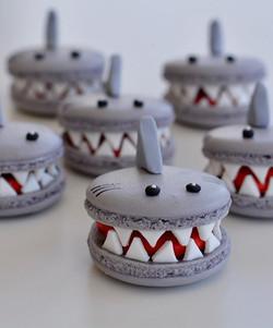 Shark Macarons