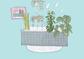 Pflanzenbadezimmer-Illustration-Elisa-Ku
