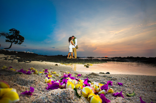 Kona Sunset Wedding