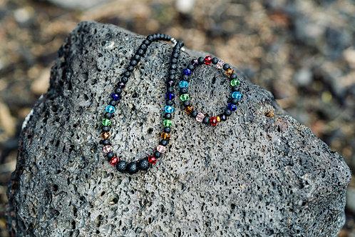 Lava Rock Chakra Set