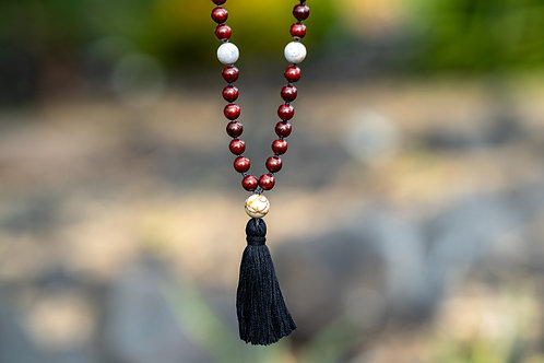 Mala Necklace  - Polished Rosewood