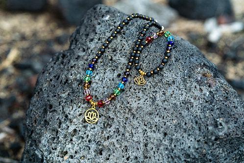 Necklace and Bracelet, Chakra Set