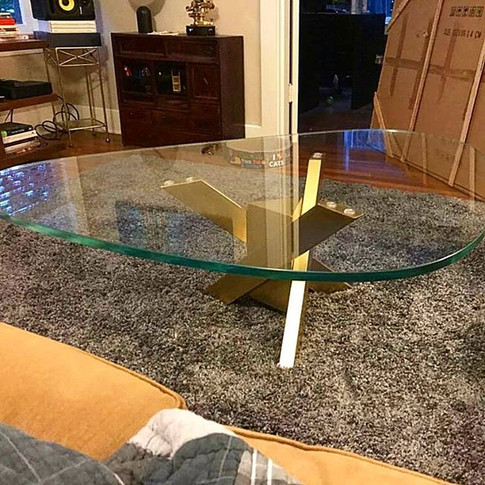 I built this metal table base for my sis