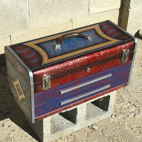 Two drawer vintage Kennedy toolbox I rep