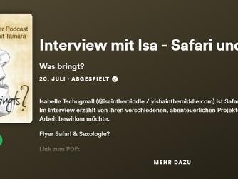 """Isa im Interview: Podcast """"Was bringt's?"""" - Safari und mehr..."""