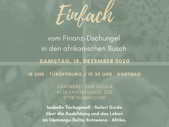 Vortrag - Männedorf: EINFACH. vom Finanz-Dschungel in den afrikanischen Busch.