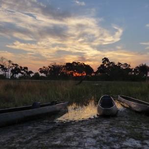 Sunset at Kwapa Camp