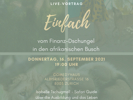 Live-Vortrag Comedyhaus (Zürich) - Donnerstag, 16.09.2021 / 19 Uhr