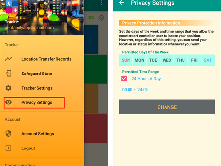How to protect tracker user's own location privacy | GeoFamily -Tracker User App
