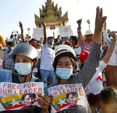 Myanmar protesters march again with renewed spirits