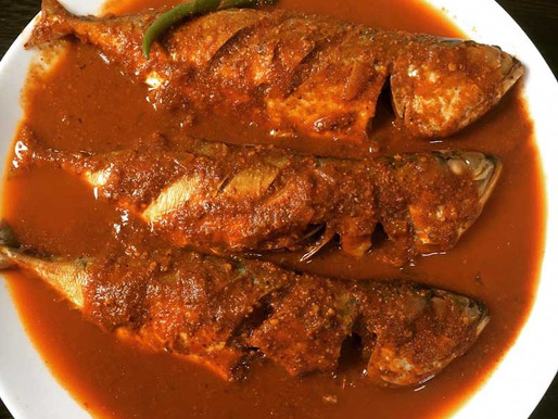 Spicy Tangy traditional Indian Mangalorean Mackerel curry