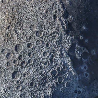 lunar surface with craters