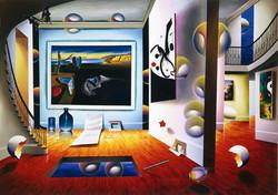 FERJO DALI WITH MIRO 40x30 in  2001