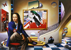 MONA WITH CHAGALL 60x40 in 2003
