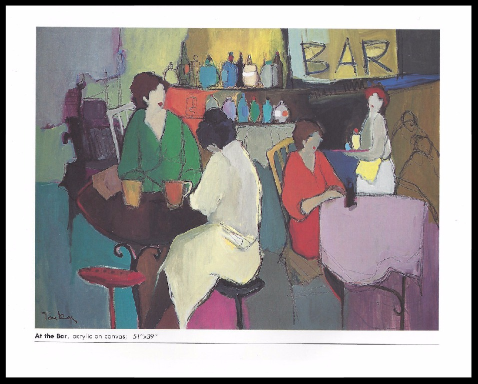 AT THE BAR       ACRYLIC ON CANVAS      51x39 in