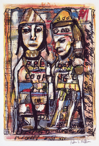 """KING AND QUEEN L.E. LITHOGRAPH 12""""x 8"""" $1250"""
