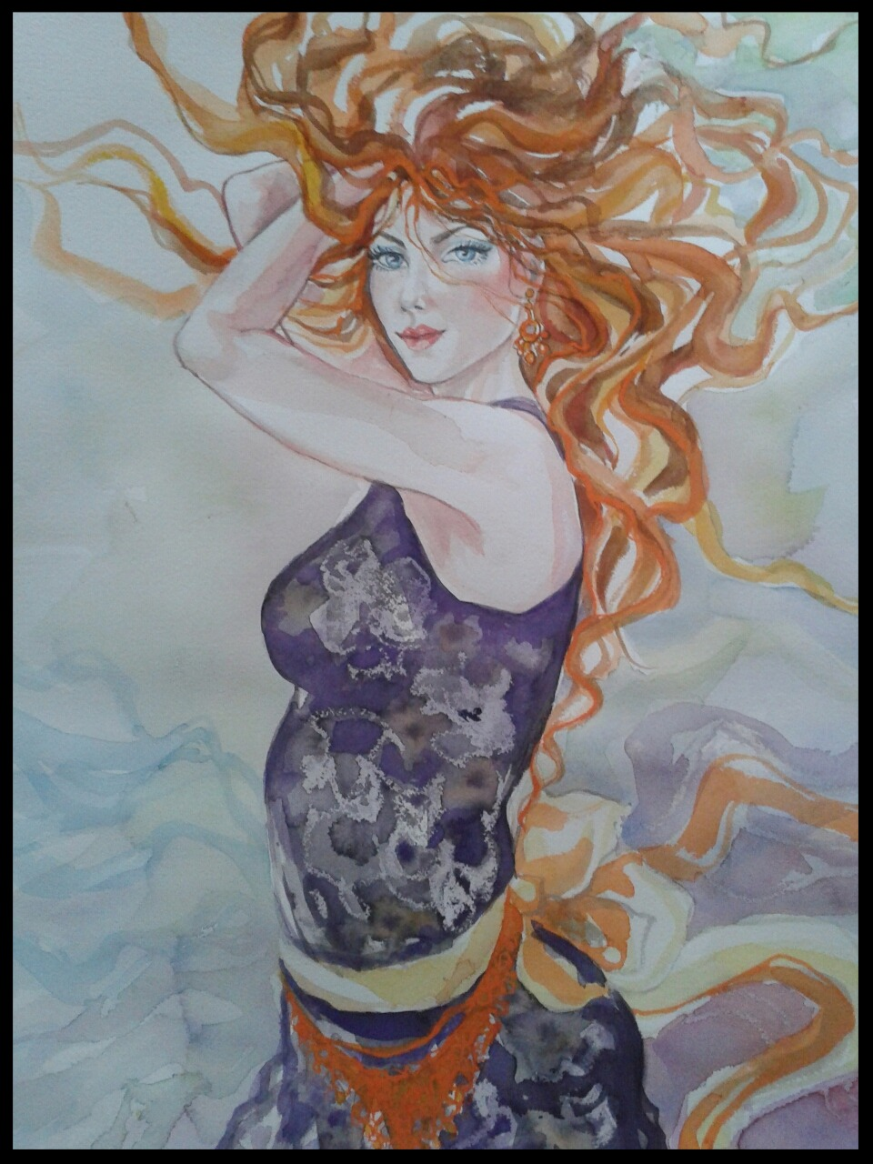 EDITBAKK ORIGINAL WATERCOLOR CARMEN 22 x 15 $2800