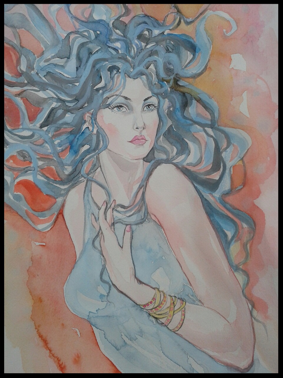 EDITBAKK ORIGINAL WATERCOLOR NICOLE 22 x 15 $2800