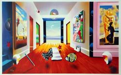 "FERJO HALLWAY TO INFINITY LITHOGRAPH 22"" x 11"""