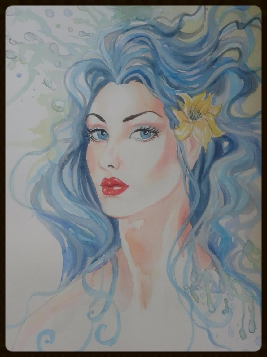 EDITBAKK  WATERCOLOR  DIANA 15_ x 11_  $1800