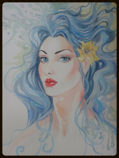 "EDITBAKK ORIGINAL WATERCOLOR ""DIANA"""