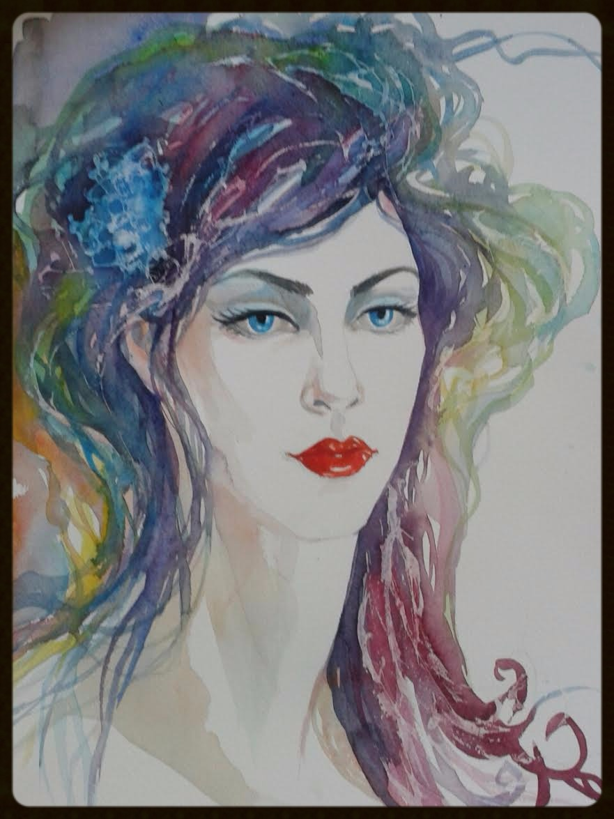 EDITBAKK ORIGINAL WATERCOLOR LIOR 15_ x 11_    $1800