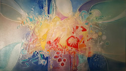 "JANOS KARDOS  036  ABSTRACT 52""x30"" $7800"