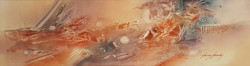 KARDOS ABSTRACT  EARTH SERIOUS I    50_ x 15_ $7800