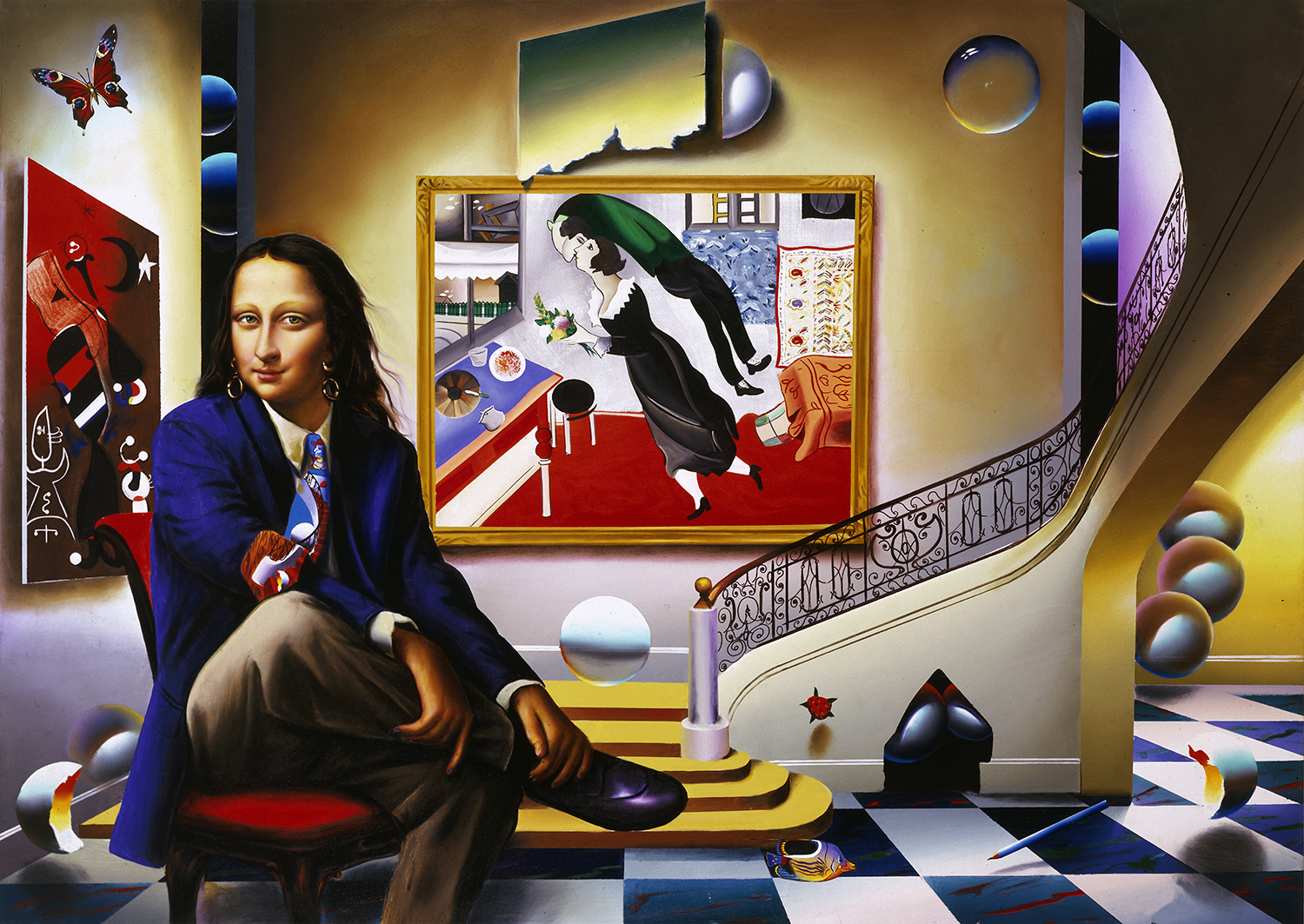 FERJO MONA WITH CHAGALL 60x40 in 2003